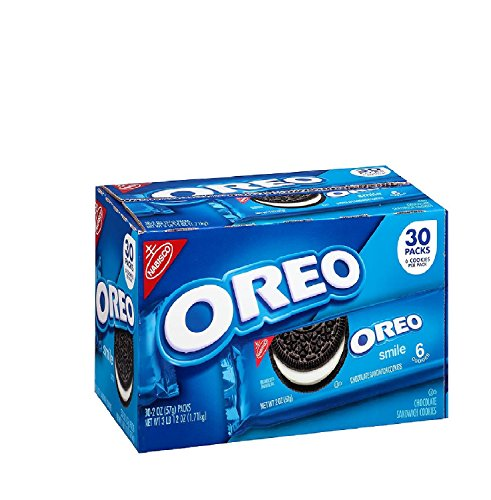 Nabisco Oreo Chocolate Sandwich Cookies (2 oz. ea., 30 pk.) Pack of 2