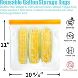 Reusable Gallon Freezer Bags - 1 Gallon Ziplock Bags 5 PACK