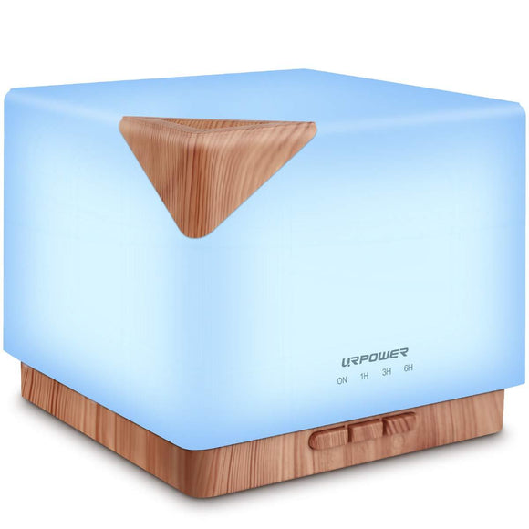 URPOWER 700ml Square Aromatherapy Essential Oil Diffuser Humidifier