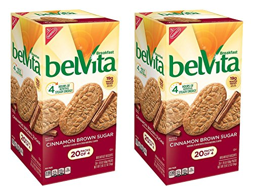 Belvita Brown Sugar Cinnamon Biscuits (1.76 oz. per pk, 20 pks.) Pack of 2