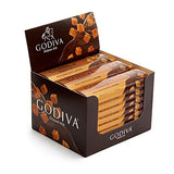 Godiva Chocolatier Belgium Milk Chocolate with Caramel Bar Gift, Chocolate Caramel, Great for Stocking Stuffers, 24 Pack
