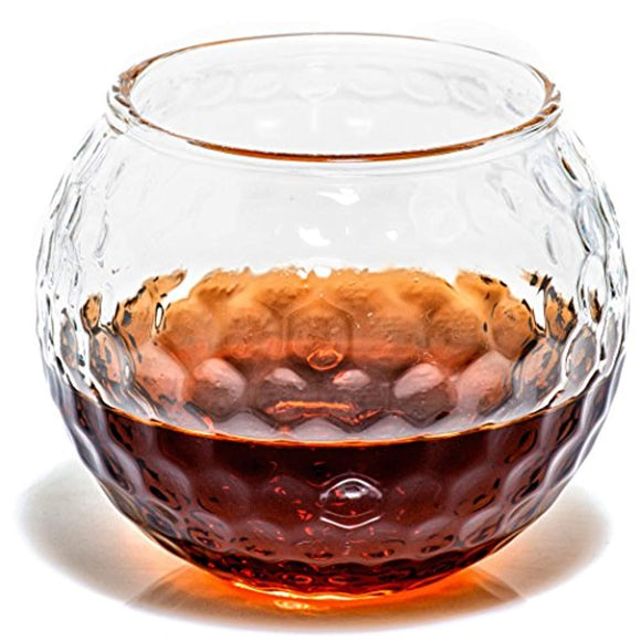 Golf Whiskey Glasses – Rocks Glass for Rum, Scotch, Wine Glasses - Bourbon Gifts