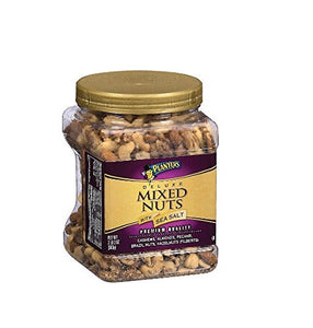 Planters Deluxe Mixed Nuts with Sea Salt - 34 oz. Pack of 2