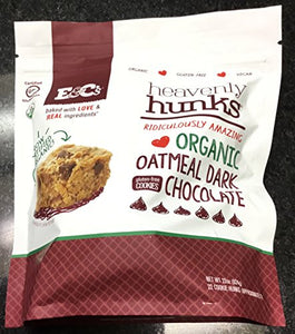 2 Pack Heavenly Hunks Organic Oatmeal Dark Chocolate 22 oz. Each