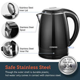 COSORI Electric Kettle(BPA Free), 1.8 Qt Double Wall 304 Stainless Steel Water Boiler