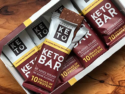 New! Perfect Keto Chocolate Bar, Almond and Cacao Butter, Keto Snack (12  Count), 3g net of Carbs