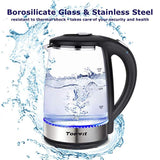 Topwit Electric Kettle Glass Water Heater Boiler