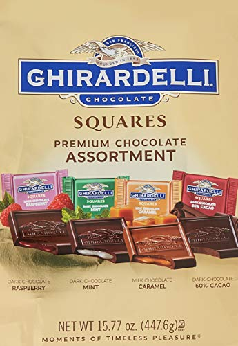 3 Pack of Ghirardelli Assorted Squares XL Bag, 15.77 Ounce Each