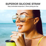 OTAGO Collapsible Reusable Straws, Food-Grade Foldable Silicone Drinking Straw