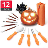 Best Deal 12 PCS Pumpkin Carving Kit Tools with Double-Side Professional Detail Sculpting Tool