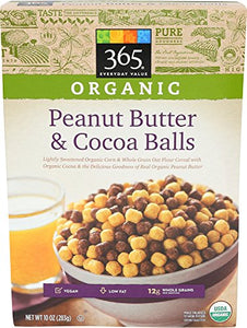 365 Everyday Value, Organic Peanut Butter and Cocoa Balls, 10 Ounce (Pack of 3)