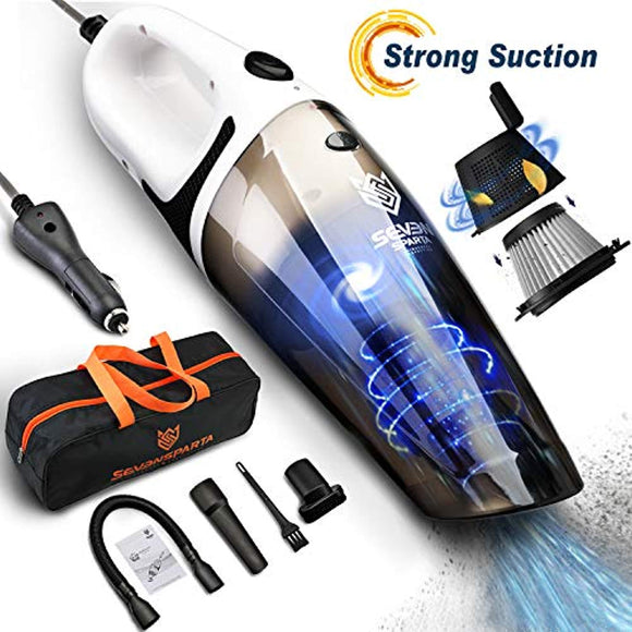 Seven Sparta Car Vacuum, Car Vacuum Cleaner, 5500PA Cyclonic High Powerful Suction