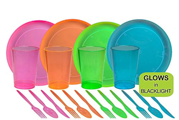 Tiger Chef 40-Piece Neon Assorted Glow Party Supplies