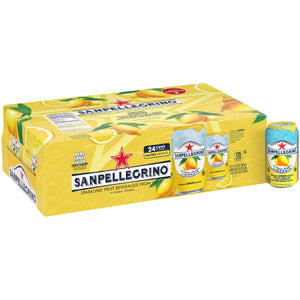 SANPELLEGRINO Lemon Sparkling Fruit Beverage 24-11.15 fl. oz. Cans
