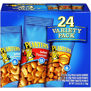 4 Pack Planters Nut 24 Count-Variety Pack - Total 96 Packs