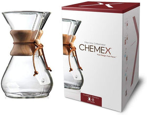 Chemex Classic Series, Pour-over Glass Coffeemaker, 8-Cup