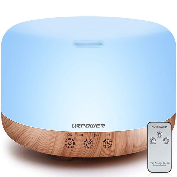 URPOWER 1000ml Essential Oil Diffuser Humidifiers Remote Control Ultrasonic Aromatherapy Diffusers