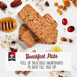 Quaker Breakfast Flats, Cranberry Almond, Breakfast Bars, 5 Pouches, 3 Bars in Each Pouch (Pack of 4)