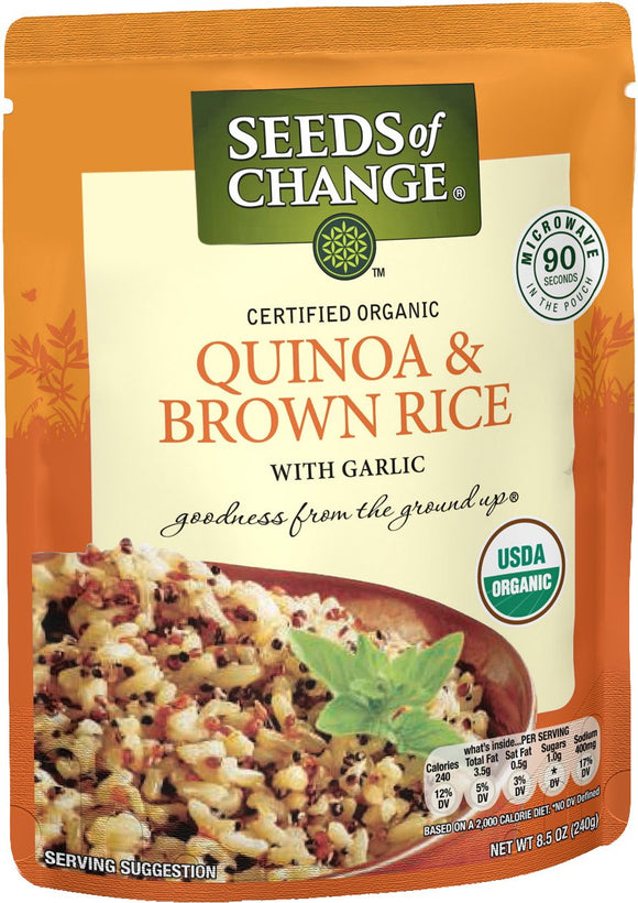 SEEDS OF CHANGE Organic Quinoa & Brown Rice (12pk)