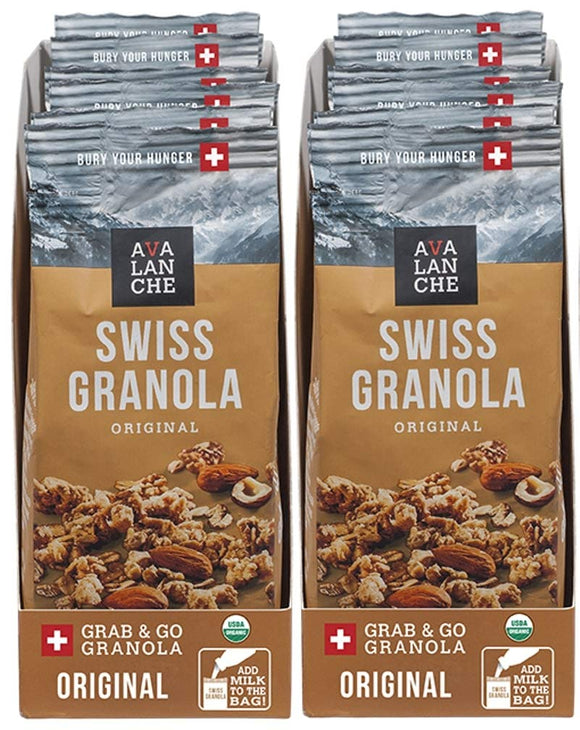 Avalanche Organic Swiss Granola, 1.76 Ounce Bag (12 Pack) Organic, Non-GMO, All Natural, Kosher