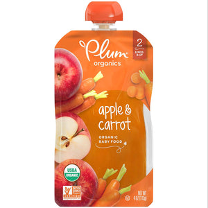 Plum Organics Stage 2, Organic Baby Food, 4 ounce pouch, Pack of 12 (Packaging May Vary)