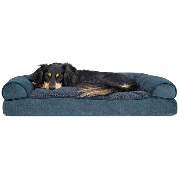 FurHaven Pet Dog Bed | Pillow Sofa-Style Couch Pet Bed for Dogs & Cats - Available in Multiple Colors & Styles