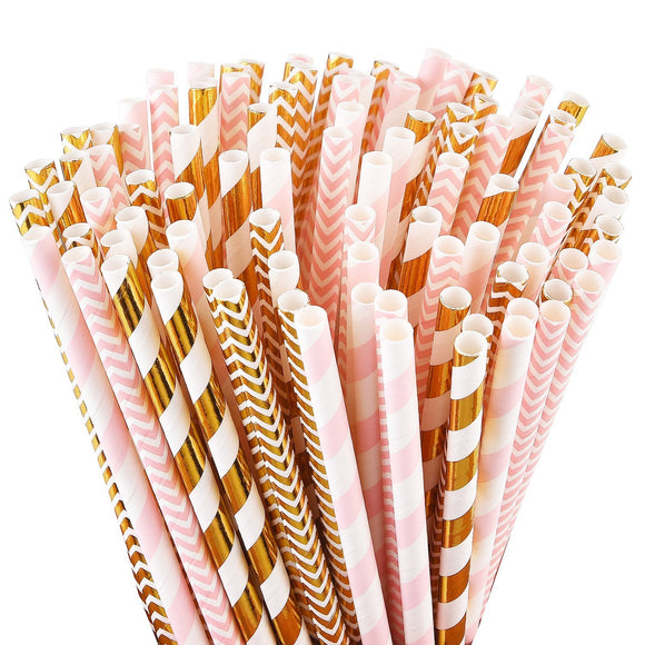 ALINK Biodegradable Paper Straws