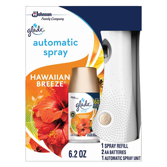 Glade Automatic Spray Holder and Hawaiian Breeze Refill Starter Kit,