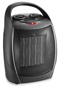 HOME_CHOICE Small Ceramic Space Heater Quiet Electric Portable Heater Fan