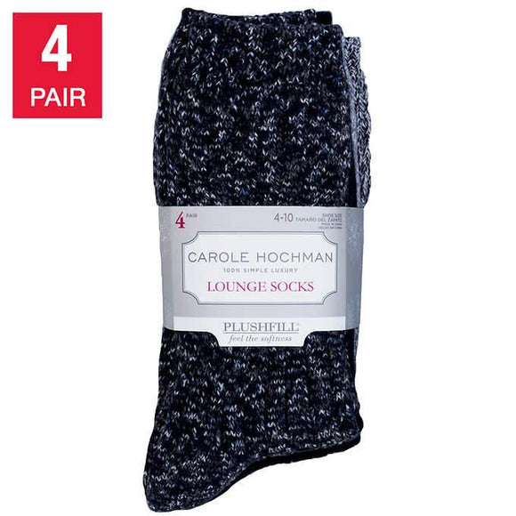 Carole Hochman Ladies' Lounge Sock, 4-pair