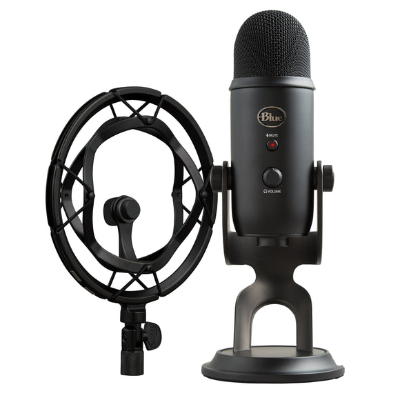 Blue Yeti Blackout Microphone and Radius III Mount Bundle