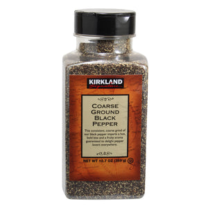 2 Pack Kirkland Signature Coarse Black Pepper, 12.7 oz. Each