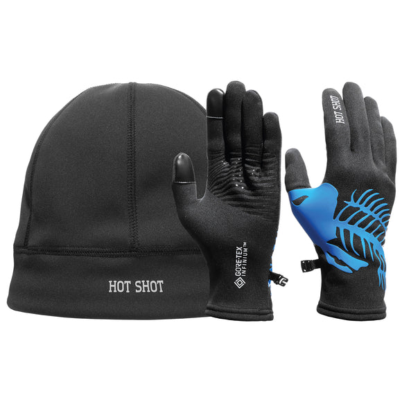 Windproof & Breathable Gore-Tex Infinium™ Windstopper® Stretch Glove/Beanie Set