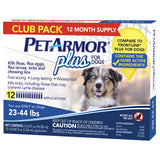 PetArmor Plus Flea, Tick and Lice Formula for Dogs 23-44 lbs, 12 Month Application