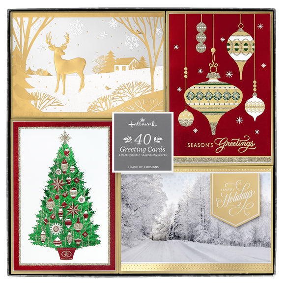 Hallmark Greeting Cards - Joys of the Season, 40-count