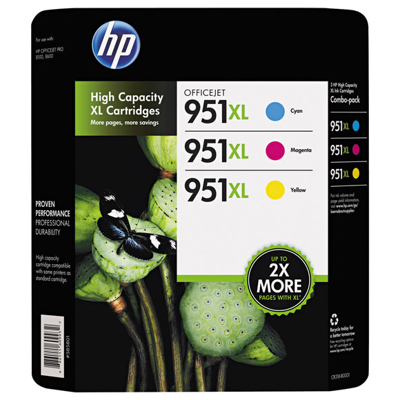 HP 951XL High Yield Ink Cartridge Color, Tri-Color Pack