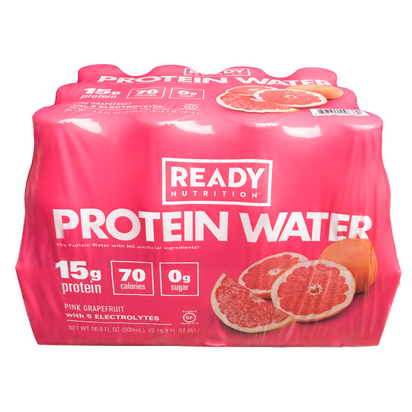 Come Ready Pink Grapefruit Protein Water 16.9 fl. oz., 12-count
