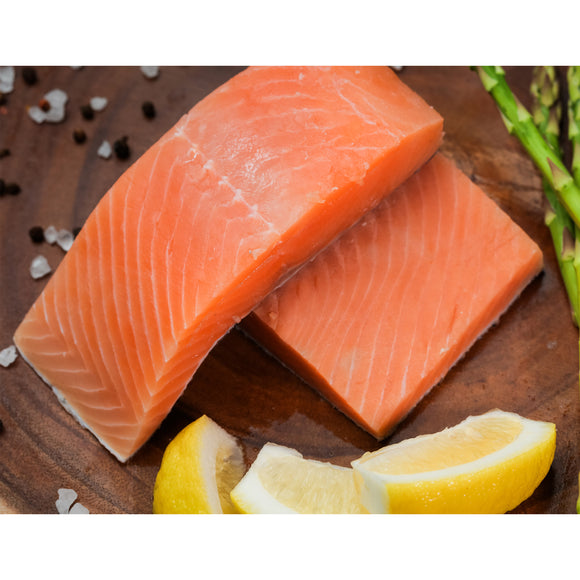 Northwest Fish Wild Red King Salmon Fillet Portions, 10 lbs