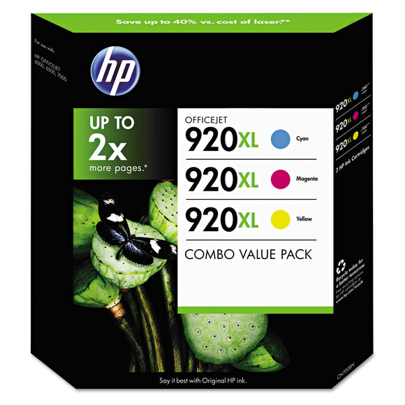 HP 920XL High Yield Ink Cartridge,Tri-Color Pack