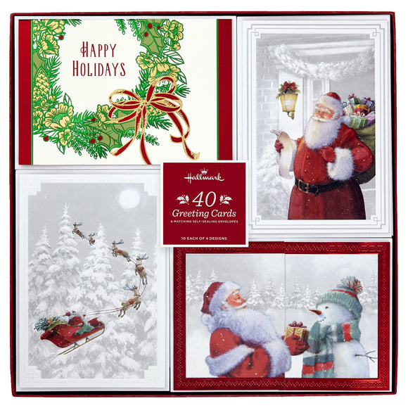Hallmark Greeting Cards - Gifts from Santa, 40-count