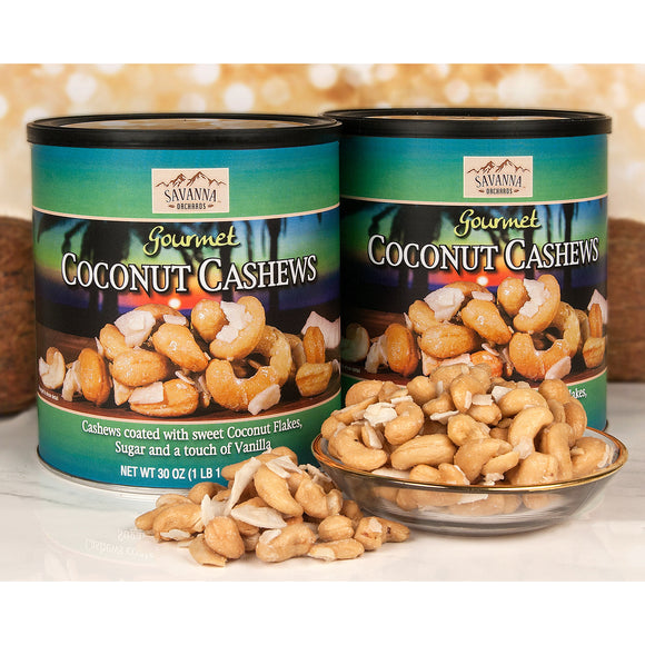 Savanna Orchards Coconut Cashews 30 oz, 2-count