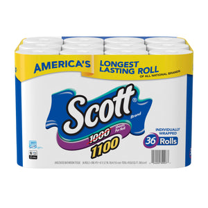 Scott Bath Tissue 1100 Sheets per Roll, 36-count