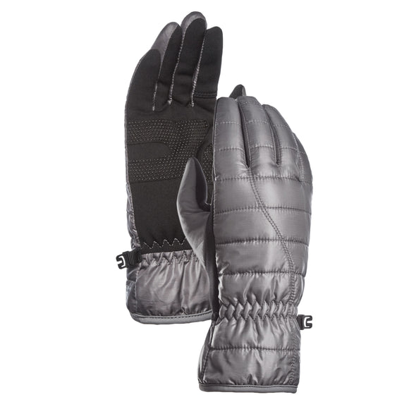 HEAD Women's Waterproof Hybrid Gloves, Gray
