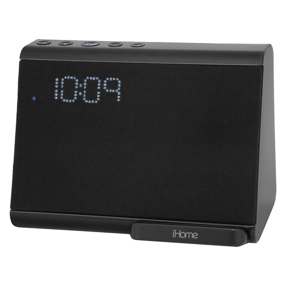 iHome iBTW390B Bluetooth Dual Alarm Clock with Wireless Qi Charging