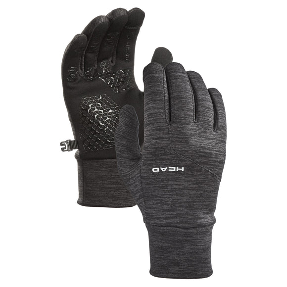 HEAD Men's Ultrafit Touchscreen Running Gloves, Gray