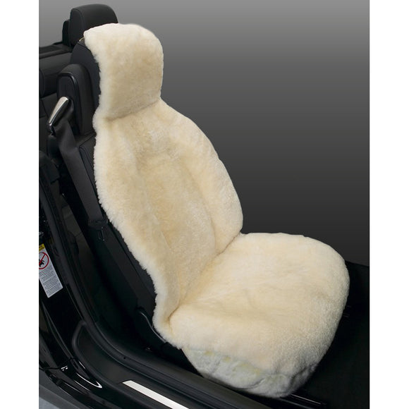 Cream Sideless Sheepskin Seat Cover