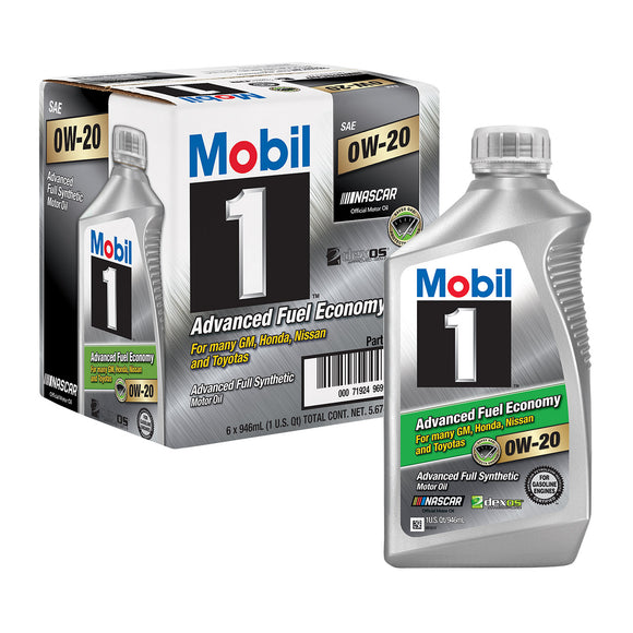 Mobil 1 Advanced Fuel Economy Full Synthetic Motor Oil 0W-20