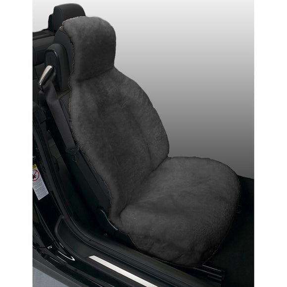 Gray Sideless Sheepskin Seat Cover