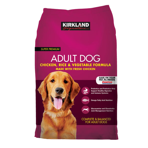 Kirkland Signature Adult Formula Chicken, Rice and Vegetable Dog Food 40 lb.