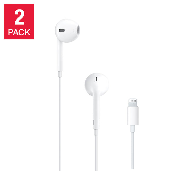 Apple EarPods Wired with Lightning Connector, 2-pack